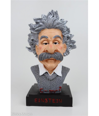 AM105 A - ALBERT EINSTEIN BUSTO 20X9CM - M�stica Moraes
