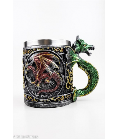 AM35 A - CANECA DRAGAO COLOR 12X14CM - M�stica Moraes